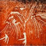 Crow (linocut)
