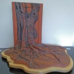 Trees & Roots XII (ceramic sculpture with bespoke wooden base)